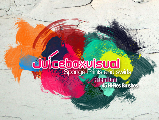 Product picture PREMIUM HI- RES Sponge Prints and Swirls Brush set